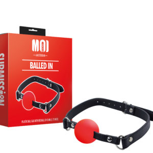 Plastic Ball Gag With Red Ball Ø 45 mm. (1.75 inch)