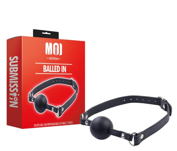 Balled In | Plastic Ball Gag With Black Ball Ø 45 mm. (1.75 inch)