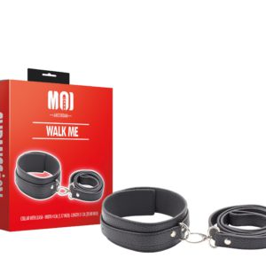 Walk Me | Collar With Leash - Width 4 cm. (1.57 inch) - Length 51 cm. (20.00 inch)
