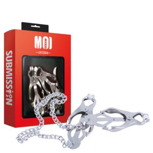 Classic Clovers | Chromed Nipple Clamps With Chain