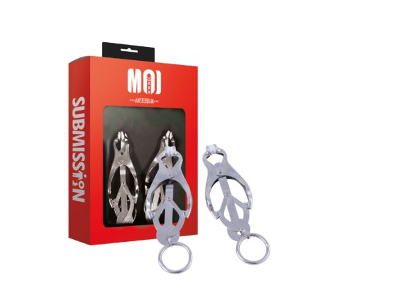 Classic Clovers | Chromed Nipple Clamps With Weight Rings