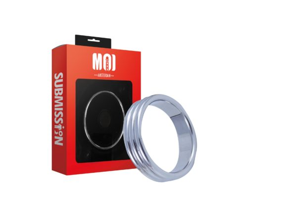Mr. 3 Times 45   Stainless Steel Cock Ring - Thickness 5 mm. Heigth 15 mm. Ø 45 mm.