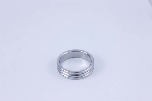 Mr. 3 Times 45 | Stainless Steel Cock Ring - Thickness 5 mm. Heigth 15 mm. Ø 45 mm.