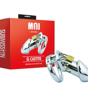 El Castito | Chromed Male Chastity Device Ø 50 mm.
